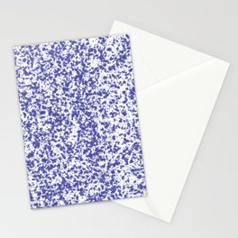 """Navy and White Painted Dot Pattern"" Stationery Cards"