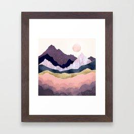 Mauve Mist Framed Art Print