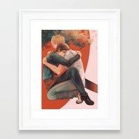 yaoi Framed Art Prints featuring Raira Days by washuuchan
