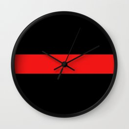 Firefighter: The Thin Red Line Wall Clock