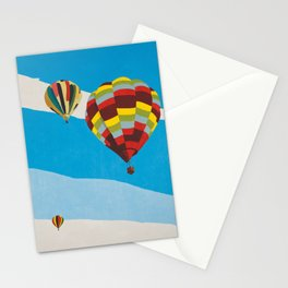 Three Hot Air Balloons Stationery Cards