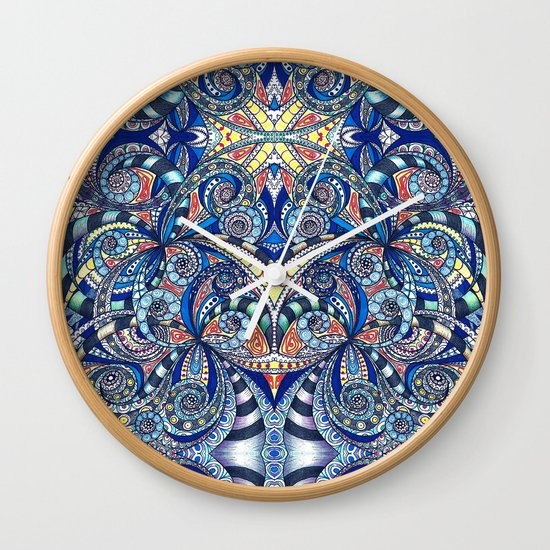 Drawing Floral Zentangle G7B Wall Clock