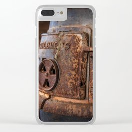 Rusty Stove Clear iPhone Case