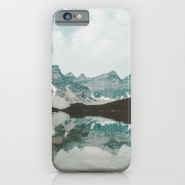Moraine Lake Mountain Reflection Summer iPhone Case