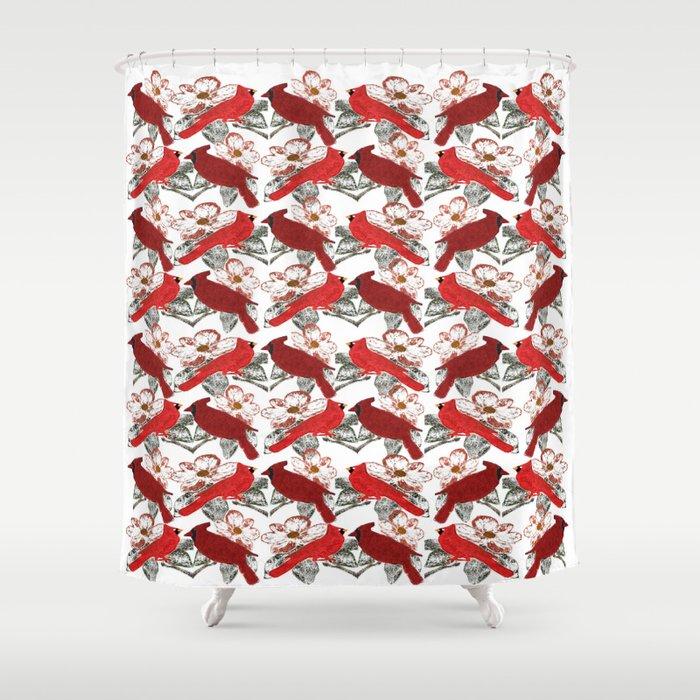 Little Cardinals Shower Curtain