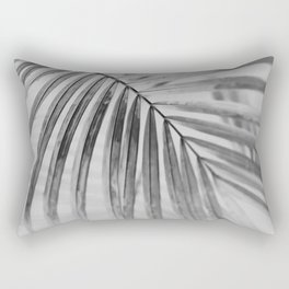 black and white tropical Rectangular Pillow