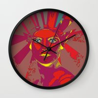medusa Wall Clocks featuring MEDUSA by Julia Lillard Art