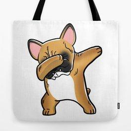 Funny Fawn French Bulldog Dabbing Tote Bag