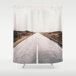 ROAD - HIGH WAY - LANDSCAPE - PHOTOGRAPHY - NATURE - ADVENTURE - SKY Shower Curtain