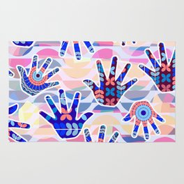 Colorful hands II Rug