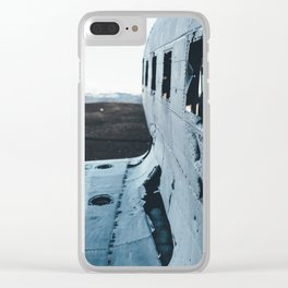 Airplane Wreckage Clear iPhone Case