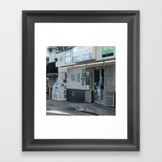 #OPEN 24 HOURS - MIAMI, USA by Jay Hops Framed Art Print