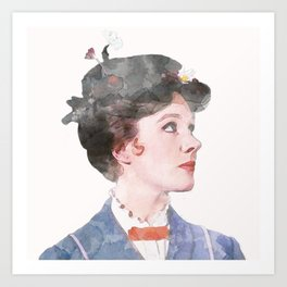 Mary Poppins - Watercolor #2 Art Print