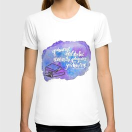 "illuminae ""you have me"" watercolor bubble galaxy T-shirt"