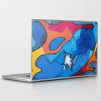 stained glass Laptop & iPad Skins featuring Stained Glass by Christine Alexandria