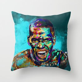 Aggression Throw Pillow