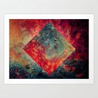 square Art Prints featuring Random Square by Esco