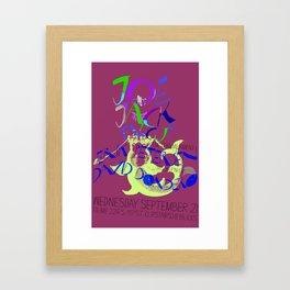 joe jack talcum gig poster Framed Art Print