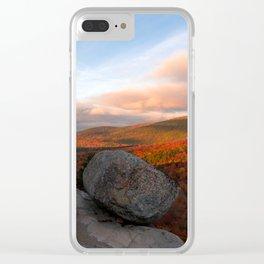 Bubble Rock Sunset Clear iPhone Case
