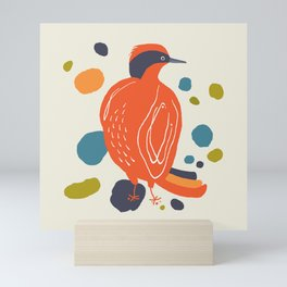 Quirky Helmeted Honeyeater Mini Art Print