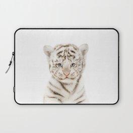 Baby White Tiger Cub Portrait Laptop Sleeve