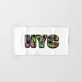 NYC (typography) Hand & Bath Towel