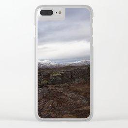 Continental drift - Thingvellir National Park Clear iPhone Case