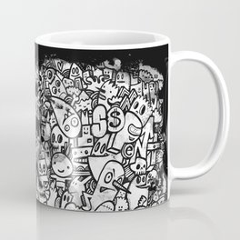 Misspent Youth Watercolor Doodle Coffee Mug