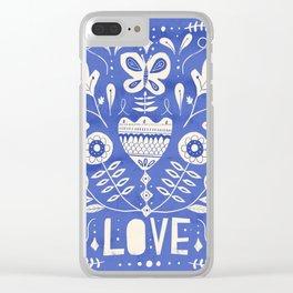 Folk Love Clear iPhone Case