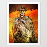 clint barton Art Prints featuring Clint by Rabassa