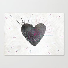 your heart is my target Canvas Print