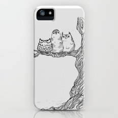 Three owls in a tree iPhone (5, 5s) Slim Case