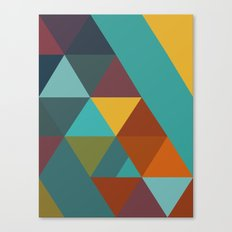 Triangles Colors City 4 Canvas Print