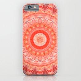 Mandala soft orange 3 iPhone Case