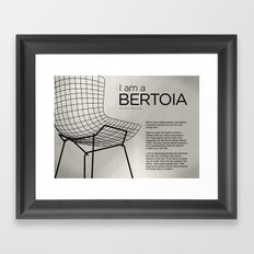 Chairs - A tribute to seats: I'm a Bertoia (information) Framed Art Print