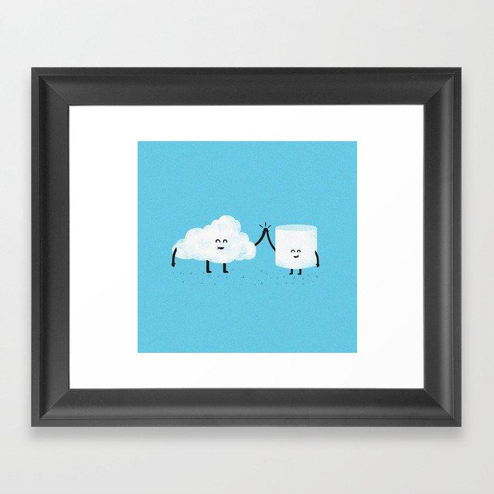 Puffy Pals Framed Art Print