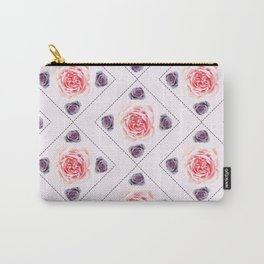Smudged Roses Carry-All Pouch