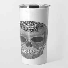 Mandala Skull Travel Mug