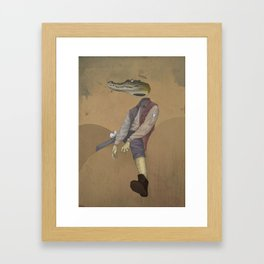 mr.croc Framed Art Print