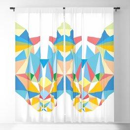 Diamond Kaleidoscopic Cat Blackout Curtain
