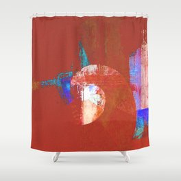 Tournament (knight terracotta) Shower Curtain