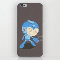 mega man iPhone & iPod Skins featuring Mega Man by Rod Perich