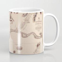 Map Of The Fraser River 1860 Coffee Mug