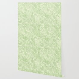 Lime Green Silk Moire Pattern Wallpaper