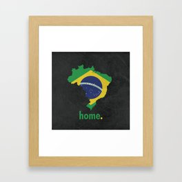 Brazil Proud Framed Art Print
