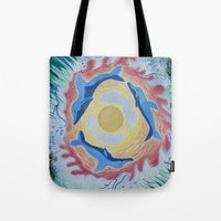 dolphins Tote Bags featuring Dolphins by ChiWolfMother