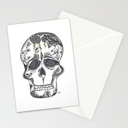 Gray Skull Stationery Cards