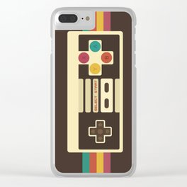 Retro Video Game 2 Clear iPhone Case