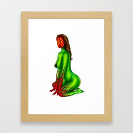 Demon Alien Chick Framed Art Print