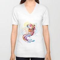 phoenix V-neck T-shirts featuring Phoenix by Nick La